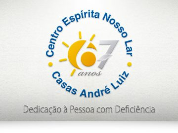 Logotipo em homenagem aos 67 anos das Casas André Luiz