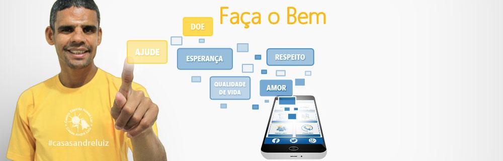 Banner Digital - Campanha de Divulgação de Aplicativo de Doações Casas André Luiz - Portfolio de Designer Gráfico, web Designer, Edição de Vídeo, Fabiano Augusto