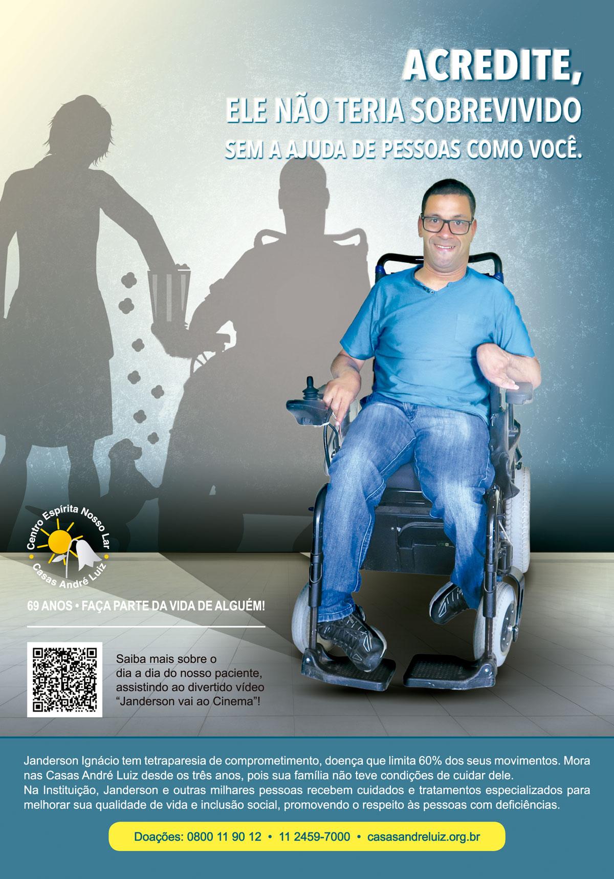 Campanha Institucional Casas André Luiz - 69 anos - Panfleto A5