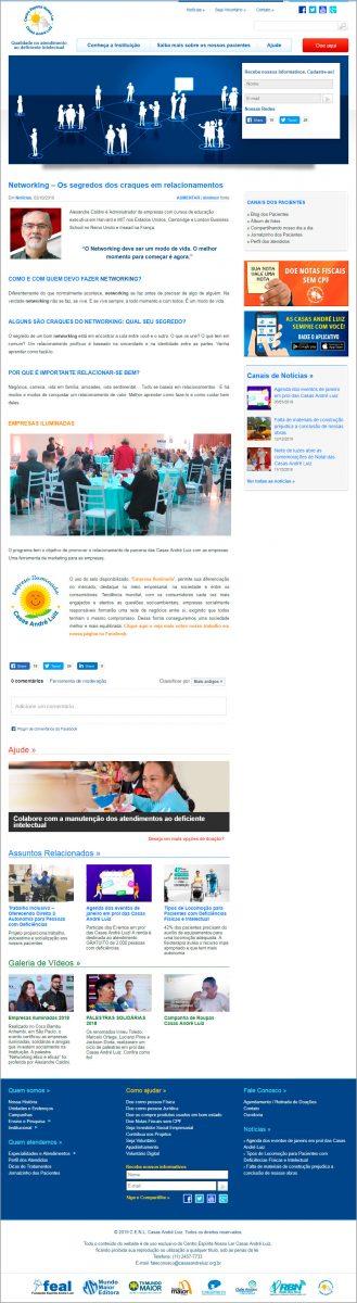 Site - Evento de Certificação das Empresas Iluminadas Casas André Luiz 2018