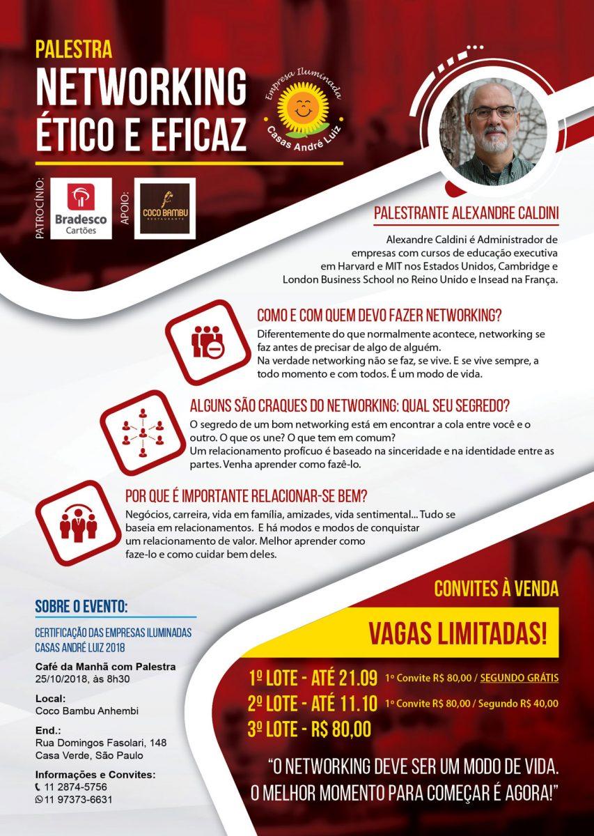 Cartaz A3 - Evento de Certificação das Empresas Iluminadas Casas André Luiz 2018