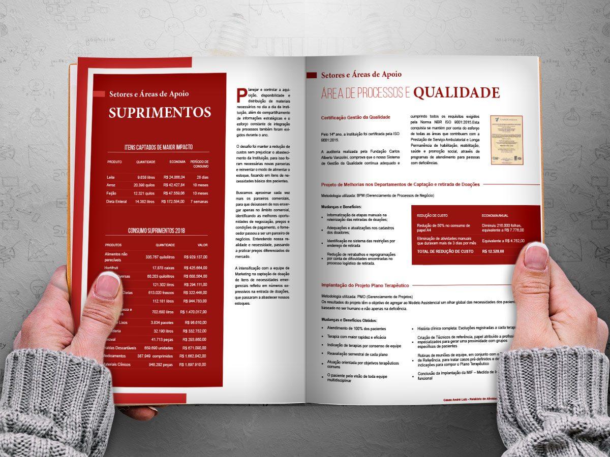 Relatório de Atividades Casas André Luiz - Portfólio - Projeto editorial e Designer Gráfico