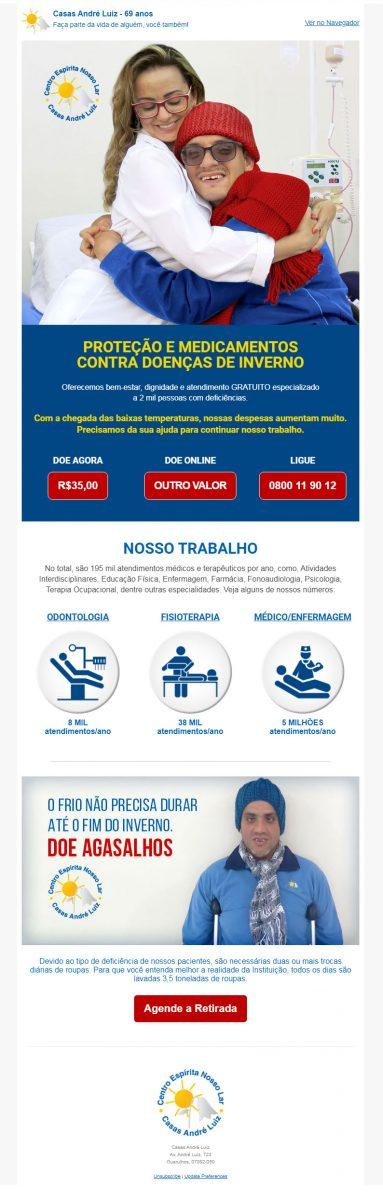 E-mail Marketing Campanha de Inverno 2018 - Casas André Luiz