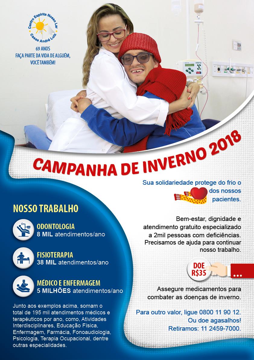 Cartaz A3 Campanha de Inverno 2018 - Casas André Luiz