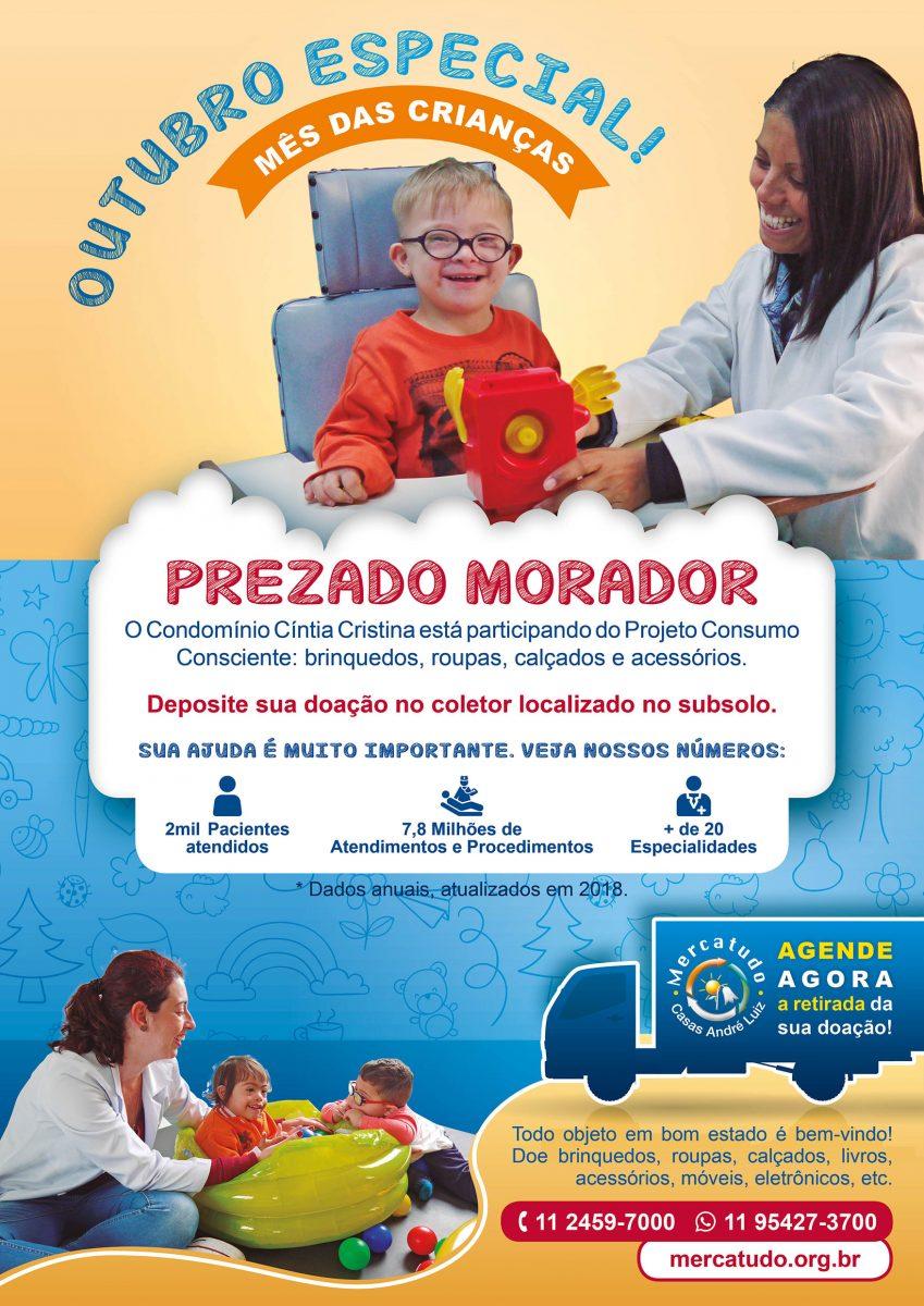 Cartaz - Campanha de Doação de Brinquedos para a Casas André Luiz - Portfólio