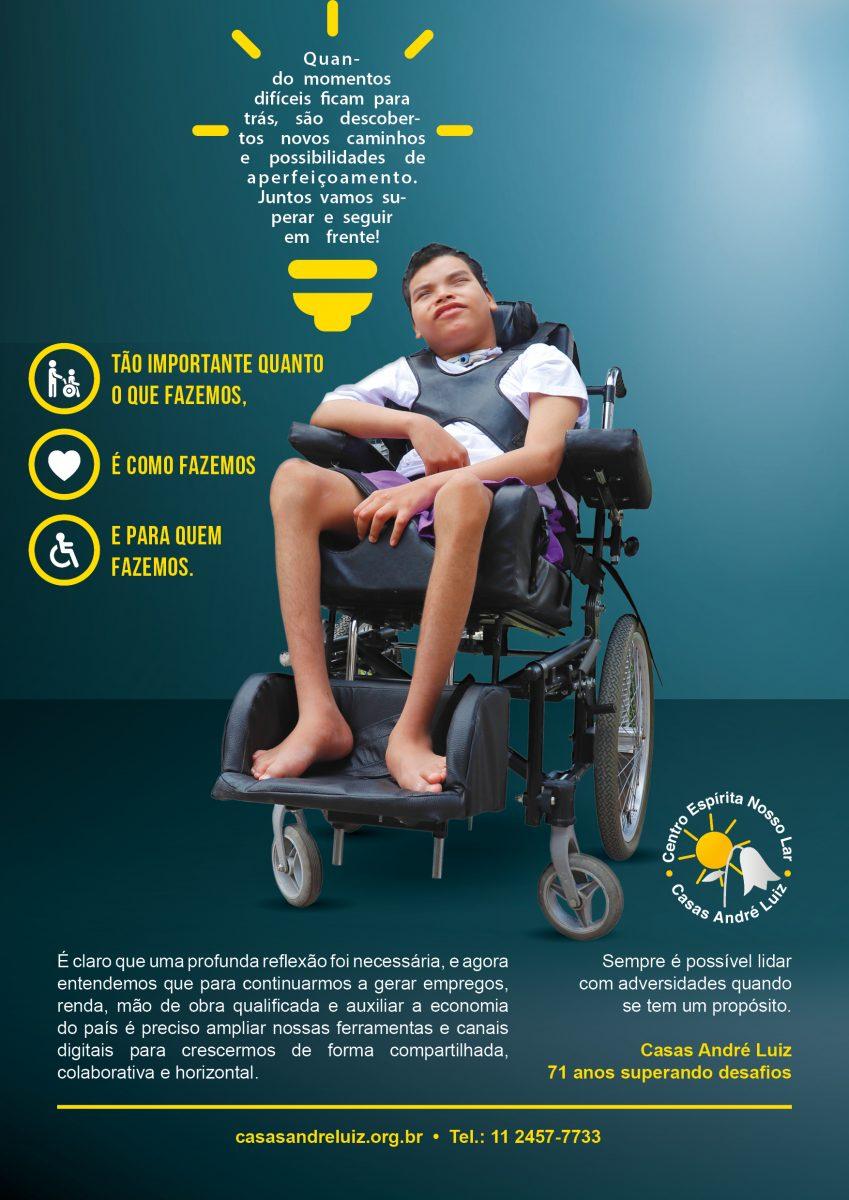 Cartaz da Campanha Institucional de 71 anos das Casas André Luiz - Fase 2 - Portfólio