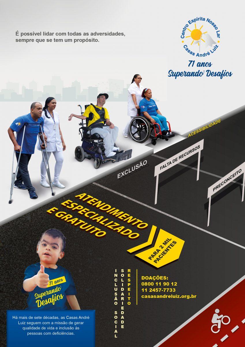 Cartaz da Campanha Institucional de 71 anos das Casas André Luiz - Portfólio